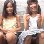 ロリ少女【加賀美シュナ 土屋あさみ】がパンツ脱いでパイパンマンコ見せるイケナイ遊び